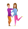 lovers boy and girl vector image