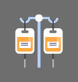 medical dropper icon hospital treatment concept vector image