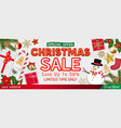 merry chrismast sale with object top view poster vector image vector image