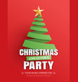 merry christmas party invitation card tree symbol vector image vector image
