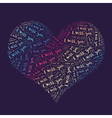 Miss words heart vector image