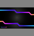 modern black with colorful gradient futuristic vector image vector image