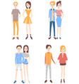 modern couples vector image