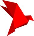 Origami dove vector image vector image