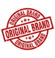 original brand round red grunge stamp vector image vector image