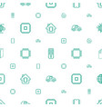 processor icons pattern seamless white background vector image vector image