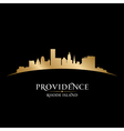Providence Rhode Island city skyline silhouette vector image vector image