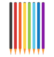 Rainbow multicolor color pencils vector image