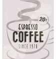 Retro Vintage Coffee Tin Sign vector image vector image