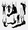 rings sport training silhouette vector image vector image