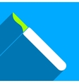 Scalpel Flat Square Icon with Long Shadow vector image