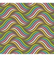 Seamless Fun Abstract Wavy Pattern Isolated on vector image vector image