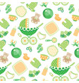 seamless pattern with baby vector image vector image