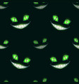 seamless pattern with scary monster faces vector image