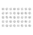 set cubes in different angles view isolated vector image