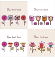Set of four Floral composition vector image vector image