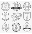 Set of vintage beer festival emblems vector image