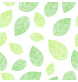 spring leaves seamless pattern vector image vector image