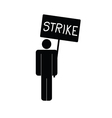 strike icon with man vector image vector image