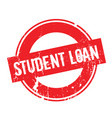 Student loan rubber stamp vector image