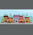 the landscape of the historic city vector image vector image