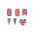 united kingdom symbols vector image vector image
