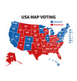 usa map voting presidential election map each vector image