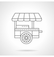 Wheel coffee shop flat thin line icon vector image vector image