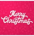 White 3d Xmas lettering on pink Xmas background vector image vector image