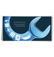 wrench and home plumbing business card vector image vector image