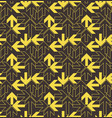 yellow arrows pattern vector image vector image