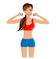 Young sexy woman fitness vector image vector image