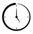 passage of time icon punctuality concept vector image