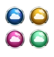White cloud buttons vector image