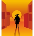 Wild west gunslinger vector image