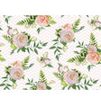 floral summer seamless pattern bouquets of pink vector image