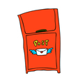 A view of post box vector image vector image