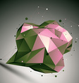 Abstract 3D polygonal construction colorful vector image vector image