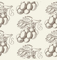 abstract fruit hand drawn seamless pattern vector image vector image