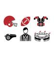 american football icon design set bundle template vector image