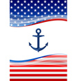 american navy background vector image vector image