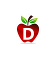apple letter d logo design template vector image