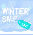 banner square winter sale vector image vector image
