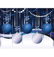 Blue and White Xmas Balls vector image