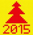 building kit of plastic 2015 z building kit of vector image vector image