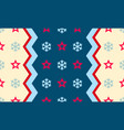christmas snowflake and star seamless pattern vector image