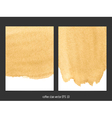 coffee stain watercolor background vector image vector image