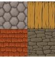 collection cartoon seamless textures vector image