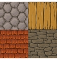 Collection of cartoon seamless textures vector image vector image