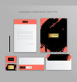 corporate identity design stationery mockup vector image vector image